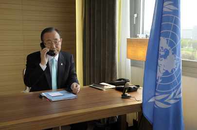 Secretary-General on Phone with Joint Special Envoy Annan