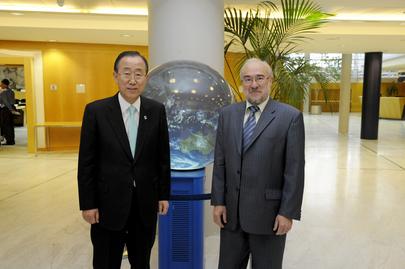 Secretary-General Meets Head of World Meteorological Organization