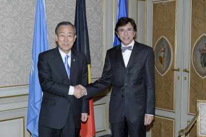 Secretary-General Meets Belgian Prime Minister in Brussels