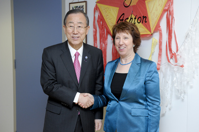 Secretary-General Meets E.U. High Representative for Foreign Affairs