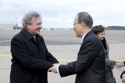 Secretary-General Arrives in Luxembourg