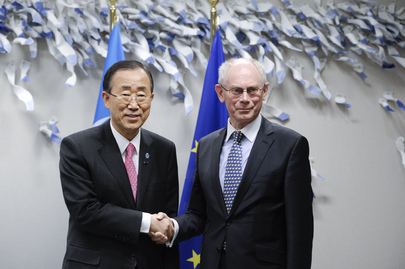 Secretary-General Meets European Council President in Brussels