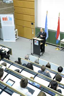 Secretary-General Speaks at University of Luxembourg