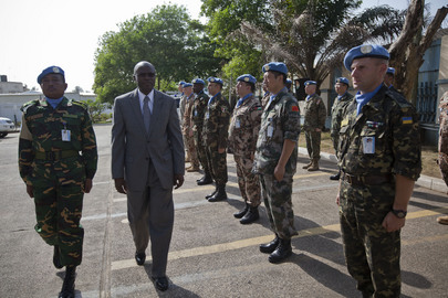 Medal Ceremony for UN Troops in Liberia