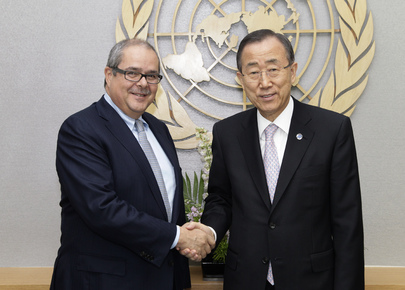 Secretary-General Meets General Manager of Global Fund