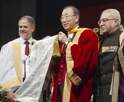 Secretary-General Receives Honourary Doctorate from Indian University