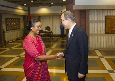 Secretary-General Meets Indian Parliament Speaker
