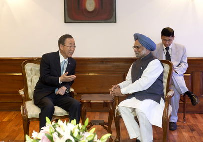 Secretary-General Meets Indian Prime Minister in New Delhi