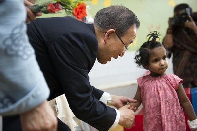 Secretary-General Visits Child and Maternal Health Hospital in India