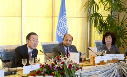 Secretary-General Attends Lunch with Myanmar Country Team