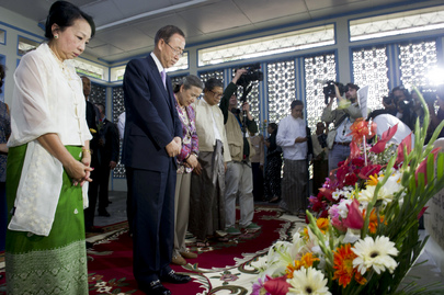 Secretary-General Pays Respects to Former UN Chief, U Thant