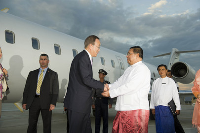 Secretary-General Arrives in Yangon, Myanmar