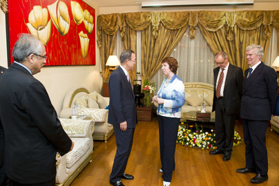 Secretary-General Meets E.U. High Representative for Foreign Affairs in Myanmar