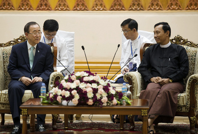 Secretary-General Meets Speaker of Myanmar Lower House