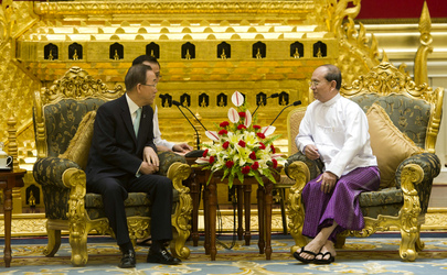 Secretary-General Meets President of Myanmar