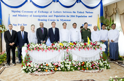 Secretary-General Participates in Census Event with Myanmar Vice-President