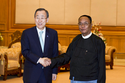 Secretary-General Meets Speaker of Myanmar Upper House
