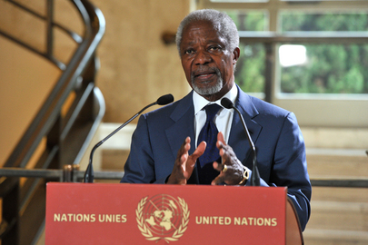 Joint Special Envoy Annan Briefs Press in Geneva
