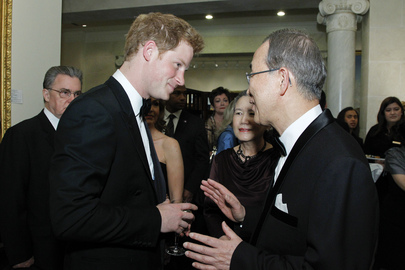 Secretary-General Meets U.K.s Prince Harry at Atlantic Council Awards