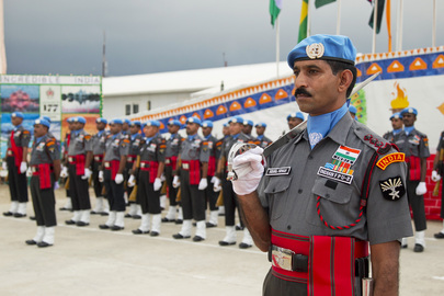 MINUSTAH Awards Medals to Indian Peacekeepers