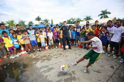 Portuguese Police and Timorese Kids Play Football