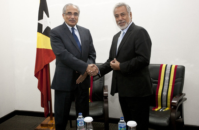 Secretary-Generals Special Adviser Meets Timorese Prime Minister for Handover Ceremony