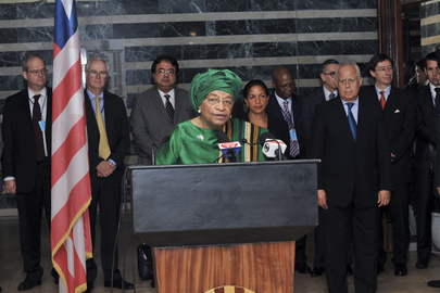 Security Council Delegation Meets with Liberian President
