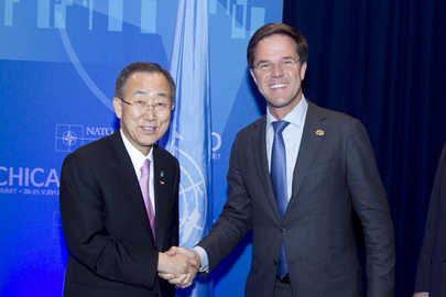 Secretary-General Meets Netherlands Prime Minister at NATO Summit in Chicago
