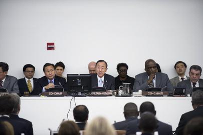 Ban Ki-moon durante a rodada da Rio+20 que teve início no dia 29 de maio. (UN Photo/Mark Garten)