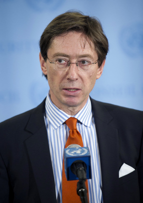 German Representative Speaks to Press following Syria Briefing