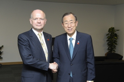 Secretary-General Meets U.K. Foreign Secretary at 2nd Istanbul Conference on Somalia