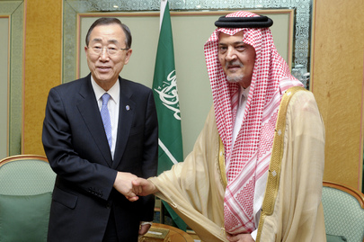 Secretary-General Meets Saudi Foreign Minister in Jeddah