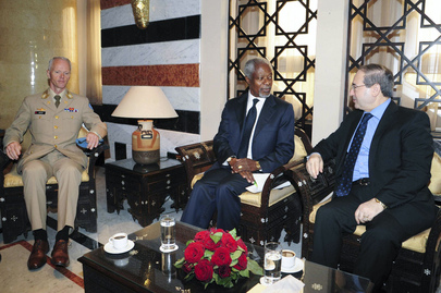 Special Envoy and Head of UNSMIS Meet with Syrian Minister