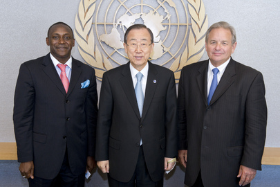 Secretary-General Meets Co-Chairs of High-Level Sustainable Energy Group 