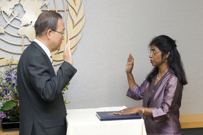 Swearing-in Ceremony for New Head of Field Support