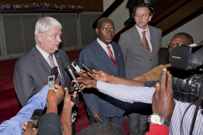 Under-Secretary-General for Peacekeeping Briefs Press in Abidjan