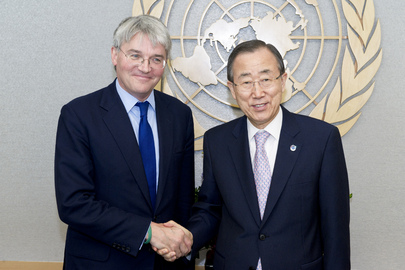 Secretary-General Meets U.K. State Secretary for International Development
