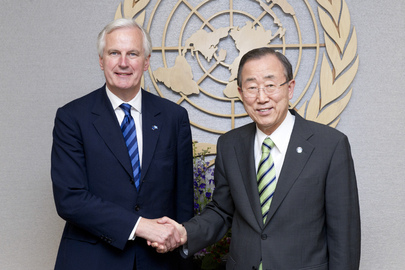 Secretary-General Meets E.U. Commissioner for Internal Market and Services