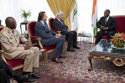 UN Peacekeeping Officials Meet President of Côte d'Ivoire