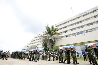 UNOCI Holds Memorial Service for Nigerien Blue Helmets