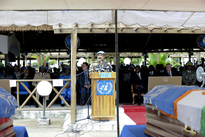 UNOCI Holds Memorial Service for Nigerien Blue Helmets