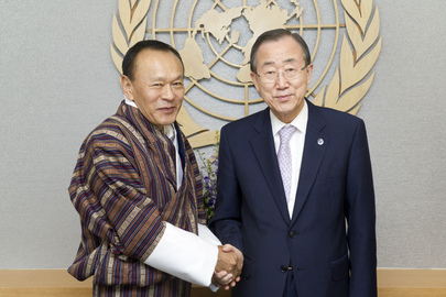Secretary-General Meets Prime Minister of Bhutan