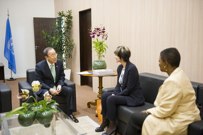 Secretary-General Meets Former President of Switzerland at Rio+20