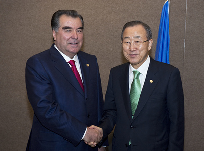 Secretary-General Meets President of Tajikistan at Rio+20