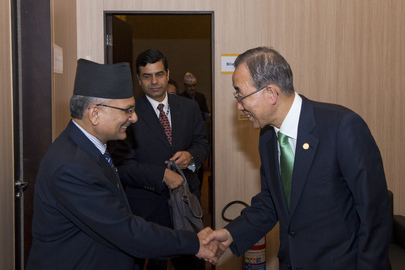 Secretary-General Meets Prime Minister of Nepal at Rio+20