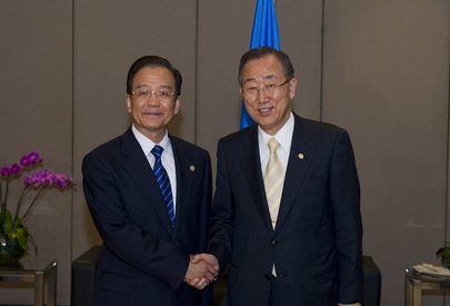 Secretary-General Meets Chinese Premier at Rio+20