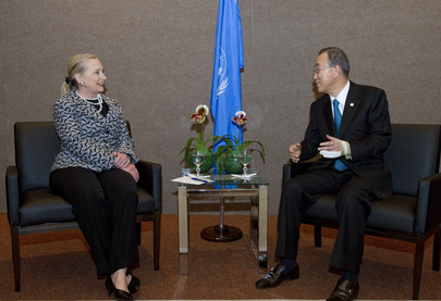 Secretary-General Meets U.S. Secretary of State at Rio+20