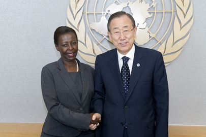 Secretary-General Meets Foreign Minister of Rwanda