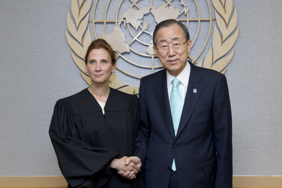 Secretary-General Meets New UN Dispute Tribunal Judge