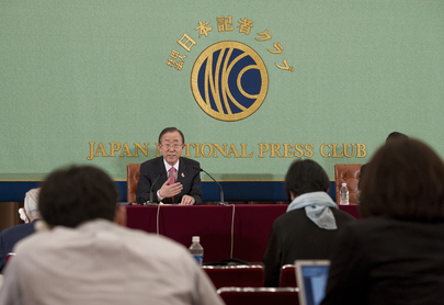Secretary-General Meets Japanese Press in Tokyo